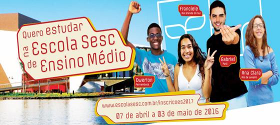Escola Sesc de Ensino Médio oferece bolsas de estudo a estudantes Amazonenses
