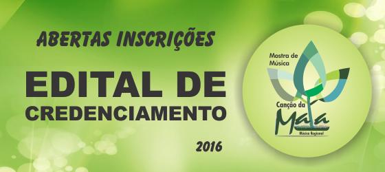 Sesc lança edital de credenciamento para apresentação artística na mostra de musica Canção da Mata 2016