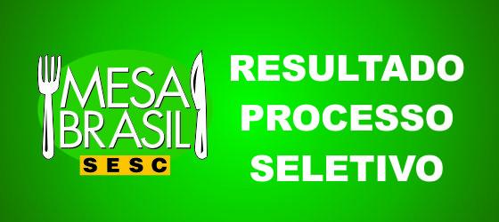 Resultado – Processo Seletivo Mesa Brasil Sesc AM