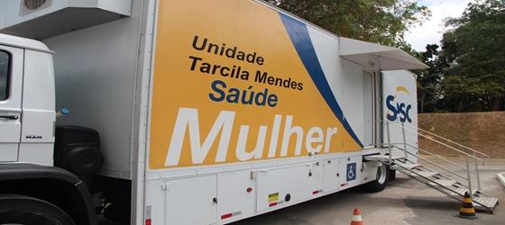 Unidade Móvel Sesc Saúde Mulher em Itacoatiara