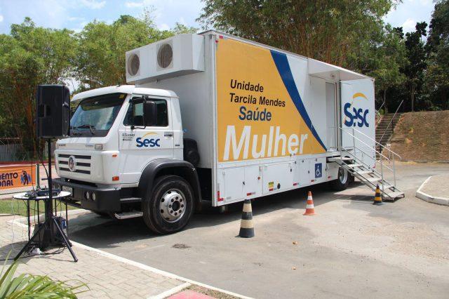 Unidade móvel do Sesc AM oferece exames gratuitos a mulheres