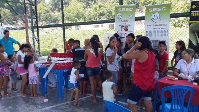 Sesc leva serviços gratuitos para a população de Manacapuru