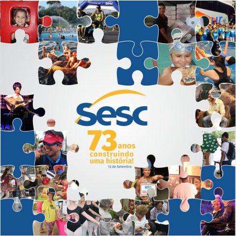 Sesc realiza programação especial em homenagem ao aniversário de 73 anos