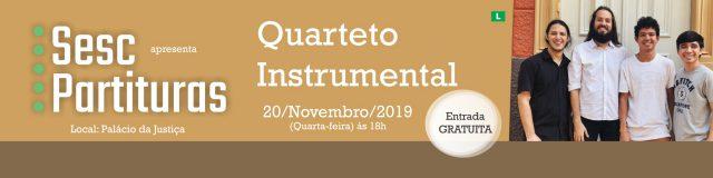 Segunda etapa do Concerto Sesc Partituras apresenta Quarteto Instrumental
