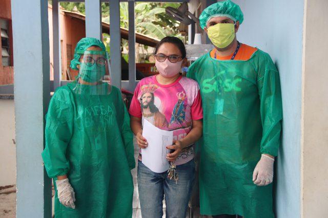 Famílias de Itacoatiara receberam 2.800 cestas básicas através do Mesa Brasil Sesc